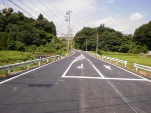 市道下野尻長尾線道路改良工事