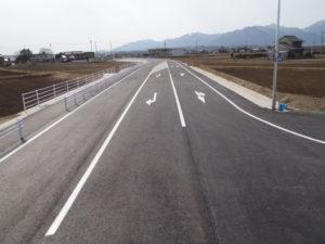 一般県道上海老高角線 舗装工事